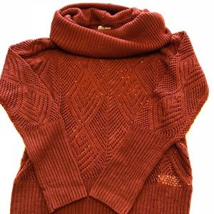Lucky Brand Knit Sweater Rust Color Size XS